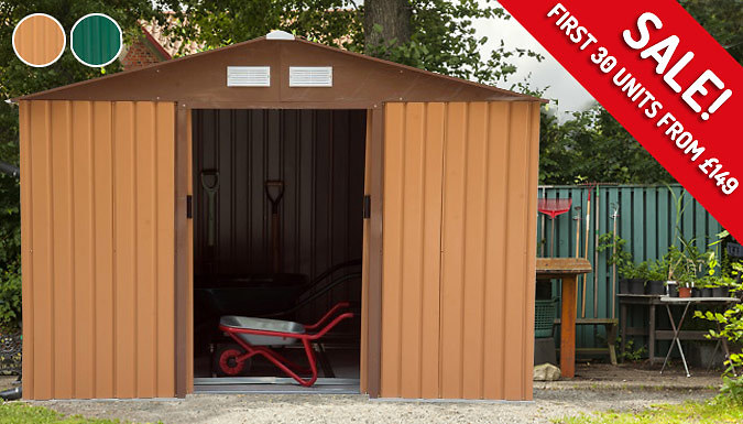 First 30! Large or XL Metal Garden Shed  2 Colours