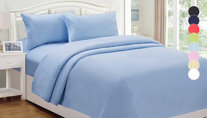 Egyptian Cotton Fitted Sheet – 8 Colours, 3 Sizes