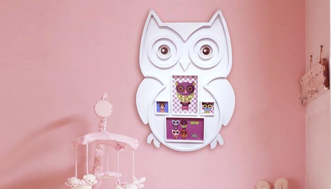Large Owl Photo Frame 2 Colours