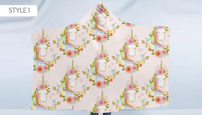 Magic Unicorn Hooded Blanket - 10 Designs & 2 Sizes