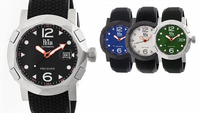 Reign Tudor Men's Automatic ProDiver Watch  6 Designs