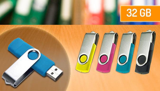 Foldable 32GB USB Drive - 4 Colours