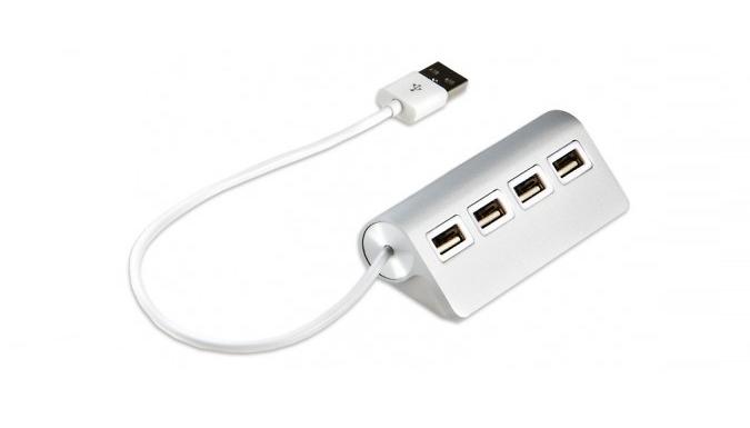 4Port Aluminium USB Hub