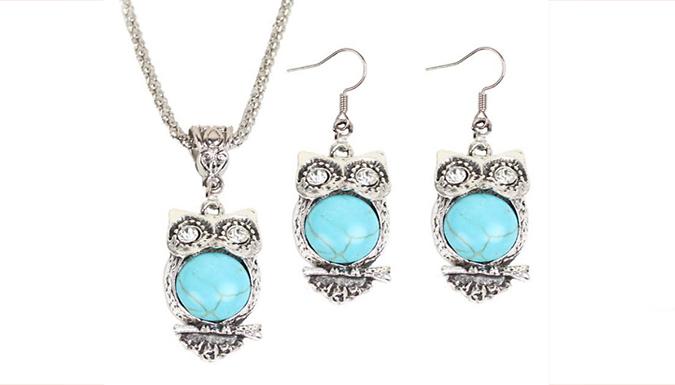 Owl Jewellery Set
