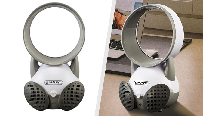 Bladeless BabySafe Fan with Integrated Speakers