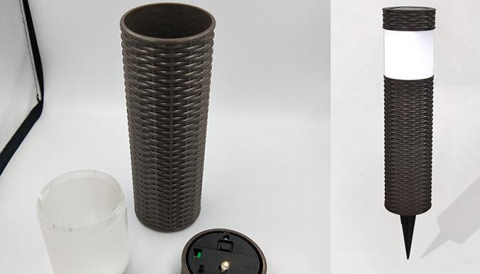 Round Rattan Solar Garden Lamps – 1, 2, 4 or 8 (£9.99)