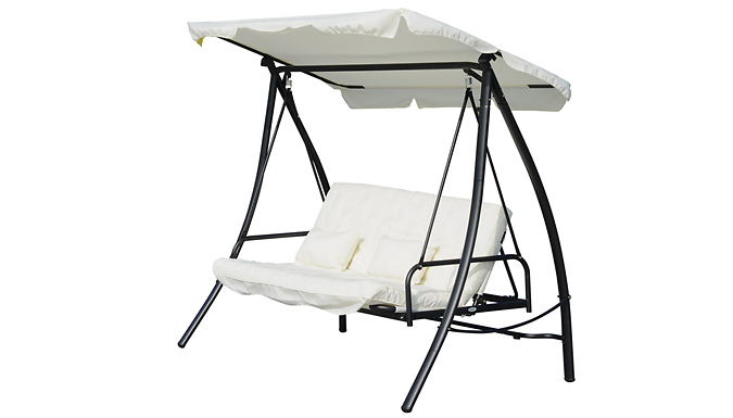 Outsunny 2-in-1 Convertible Swing Chair