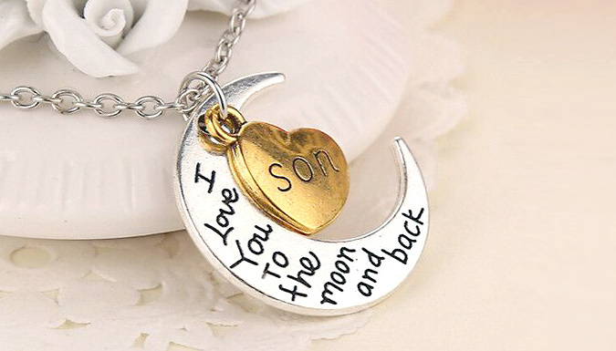 Compare retail prices of 'Love You to the Moon...' Necklace - For Mom, Sister, Daughter, Son or Brother to get the best deal online