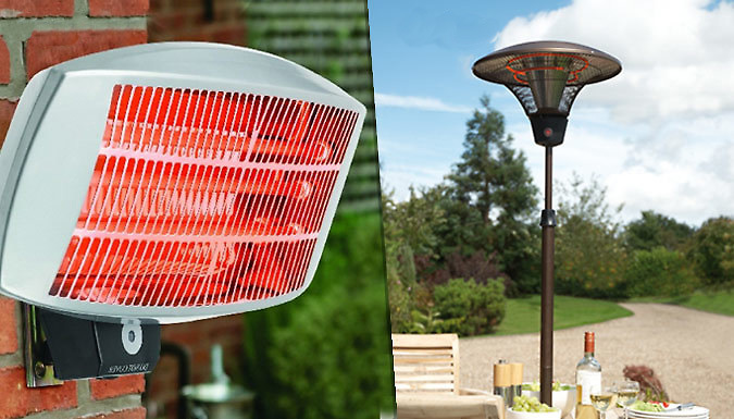 Electric Patio Heater  2 Styles