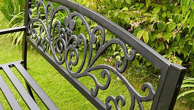 Linden Black Garden Bench