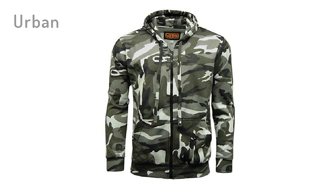 Compare retail prices of Zip Up Camo Hoodie - 4 Colours to get the best deal online