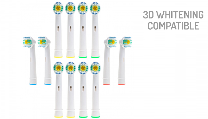12 or 24 Oral-B Compatible Toothbrush Heads - 5 Models