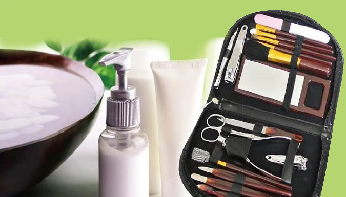 DDDeals - 18-Piece Manicure & Make Up Set