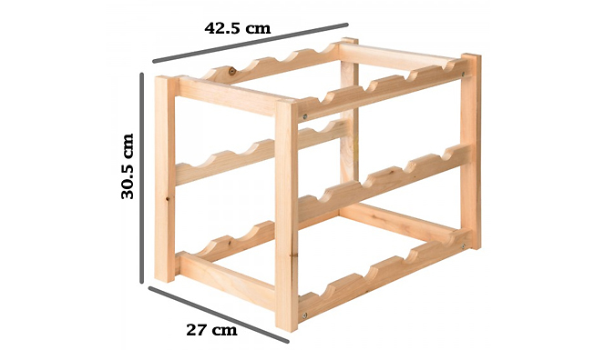 2 or 4-Tier Wooden Wine Rack - 2 Colours