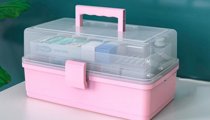 Portable 3-Layer Storage Box - 4 Colours