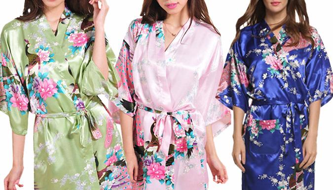 Luxury Silk Blend Kimono  3 Colours