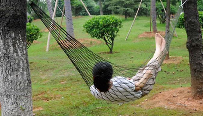 Outdoor Garden Net Hammock Swing - 5 Colours
