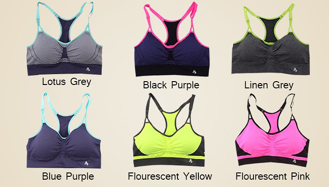 Shock-Absorbing Fast Dry Sports Bra - 6 Colours