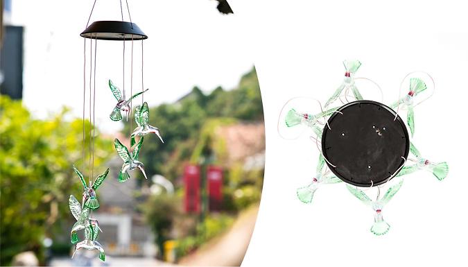 LED Solar Hummingbird Wind Chime