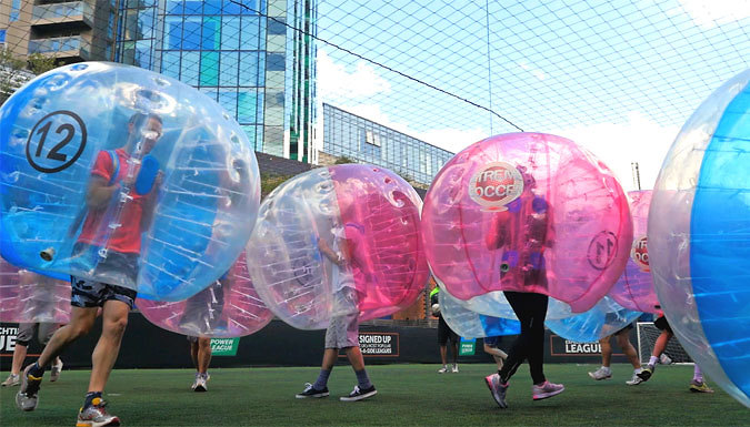 1-Hour Bubble Football Experience For Up To 15 People - 90 Locations