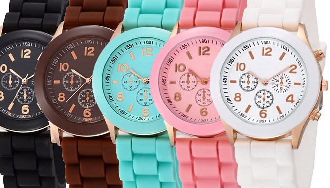 Louis Silicon Jelly Watch  5 Colours
