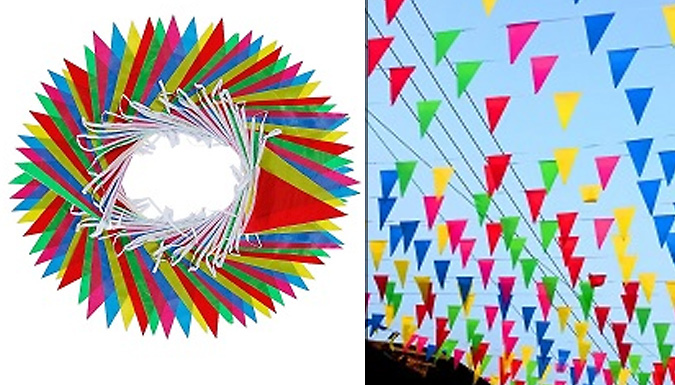 164 Feet of Multicoloured Bunting Banners - 1 or 2