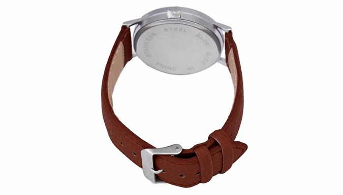Compare retail prices of 'We're All Mad Here' Faux Leather Watch - 5 Colours to get the best deal online