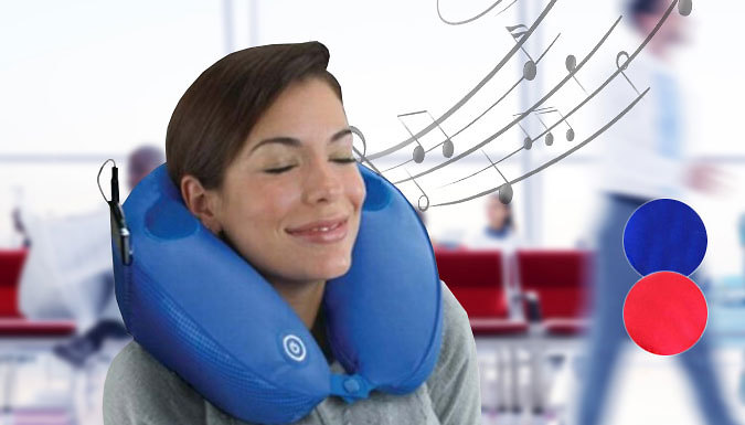 Music Massage Travel Pillow  2 Colours