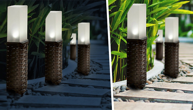 XL Rattan Solar Post Lights – 2, 4 or 8! (£9.99)