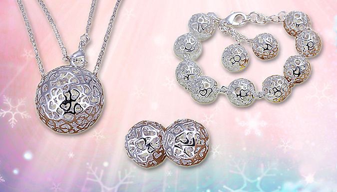 Silver Snow Ball Trio Set