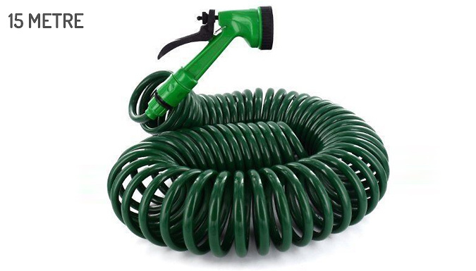 Image of 15m or 30m Retractable Hose with 5-Function Nozzle