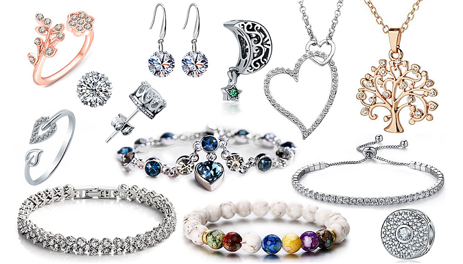 12-Piece Jewellery Gift Set Made With Swarovski Elements Crystals Deal Price £ 19.99