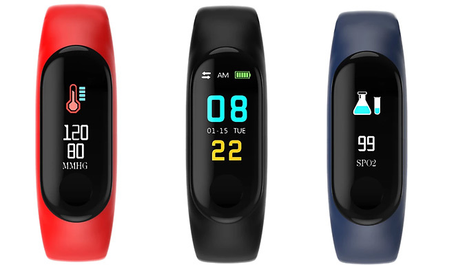 Multi-Function Touchscreen Fitness Tracker - 3 Colours - Free Delivery!