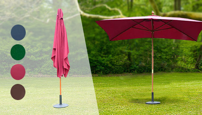 Outdoor Wooden Parasol - 5 Colours