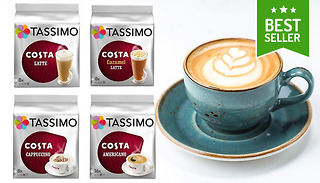 Gogroopie 3 Packs Of Tassimo Costa Coffee 48 Pods Total