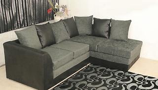 Gogroopie Chenille L Shaped Corner Sofa