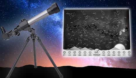 Star Map For Kids.Gogroopie 1 Or 2 Kids Telescopes Optional Star Map 3 Options