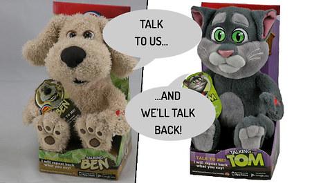 Gogroopie Talking Tom And Ben Stuffed Animal Toys 2 Designs