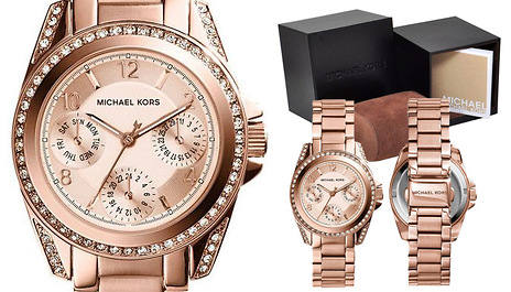793dfdab3ab1 Ensure life is rosy and save 52% on this Ladies Michael Kors MK5613 Mini  Blair Rose Gold Watch for £125 instead of £259