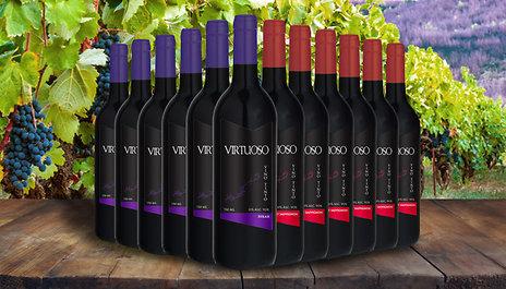 GoGroopie 12 Bottles of Premium Virtuoso Red Wine - Cabernet ...
