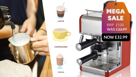 Save 72 And Caffeinate Your Mornings At Home With This Espresso Coffee Machine