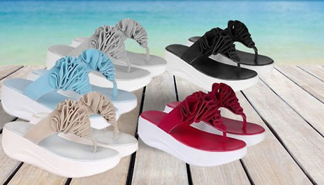 cbfe18448 Save 73% and shape up when you walk this summer with the Toning Flip Flops  - 5 Colours for just £8