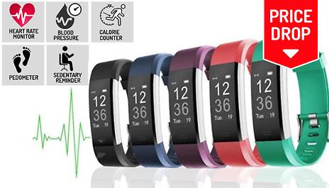 GoGroopie VeryFit Pro 20 in 1 Fitness Tracker w/ HR & BP Monitor - 5