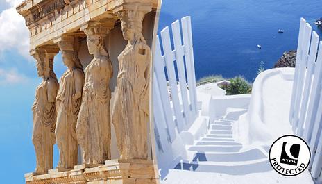 Gogroopie Athens Santorini Greece 4 6 Night 2 City Trip With