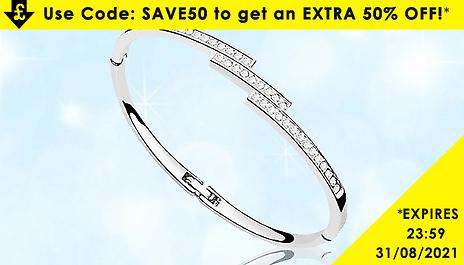 GoGroopie Swarovski Elements Triple Crystal Row Bracelet - 1 or 2