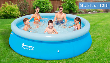 GoGroopie 6ft, 8ft or 10ft Family Swimming Pools by Bestway & Intex