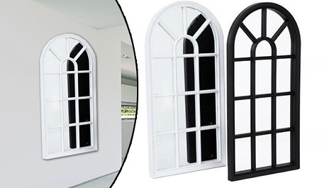 Add A Touch Of Whimsy To Your Interior Décor With One These Novelty Window Style Mirrors For Just 8 99 Instead 29